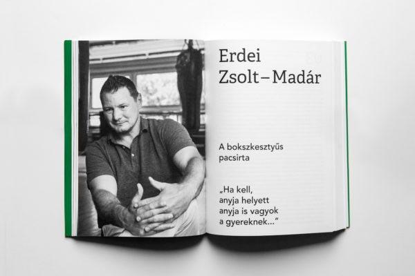 Daddy Cool Zazie kiadó könyv book apaság porté fotózás boncsér orsolya portrait photography Erdei Zsolt Madár fotós